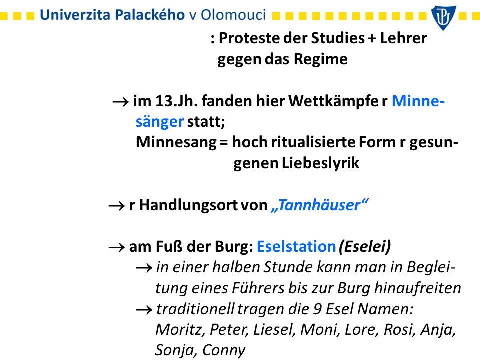 : Proteste der Studies + Lehrer gegen das Regime  im 13.Jh.