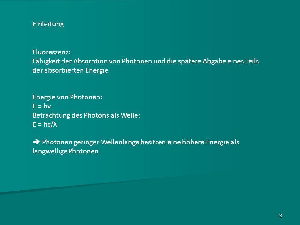 14 Problem des Fluoreszenznachweises Popova M.