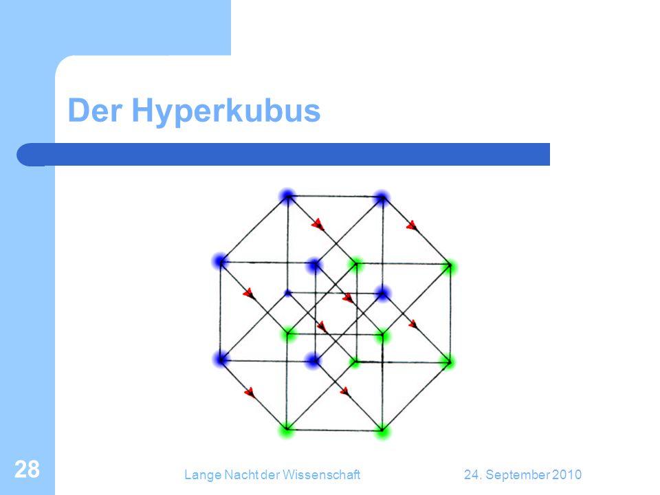 Lange Nacht der Wissenschaft24. September 2010 28 Der Hyperkubus