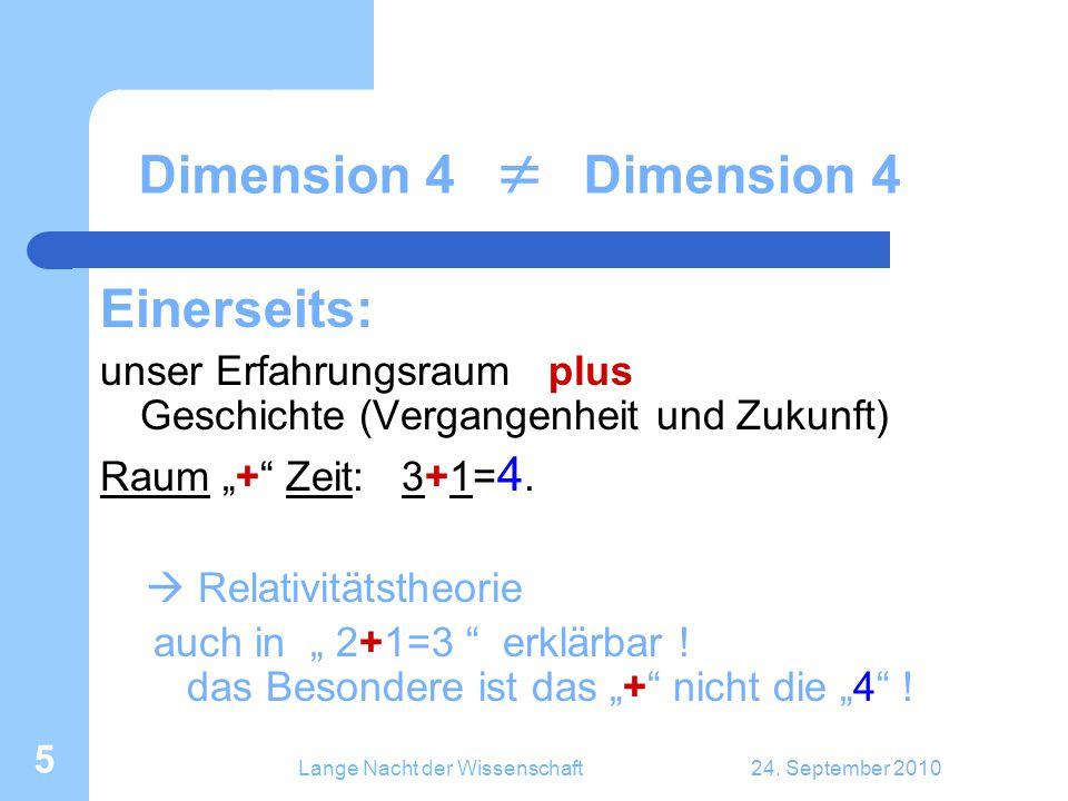 Lange Nacht der Wissenschaft24.September 2010 26 Etwas mathematischer...