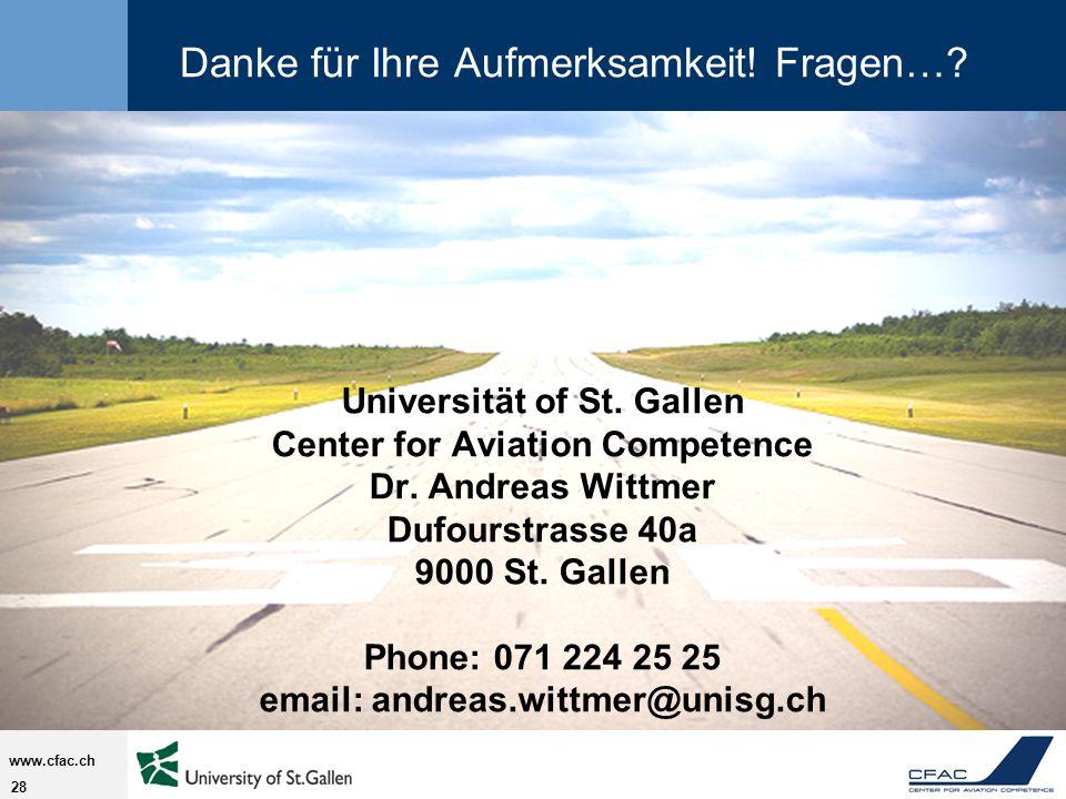 28 www.cfac.ch Danke für Ihre Aufmerksamkeit.Fragen….