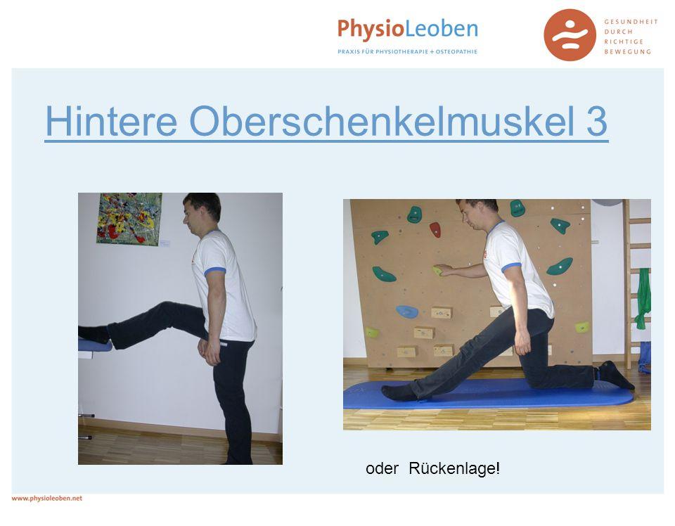 Hintere Oberschenkelmuskel 3 oder Rückenlage!