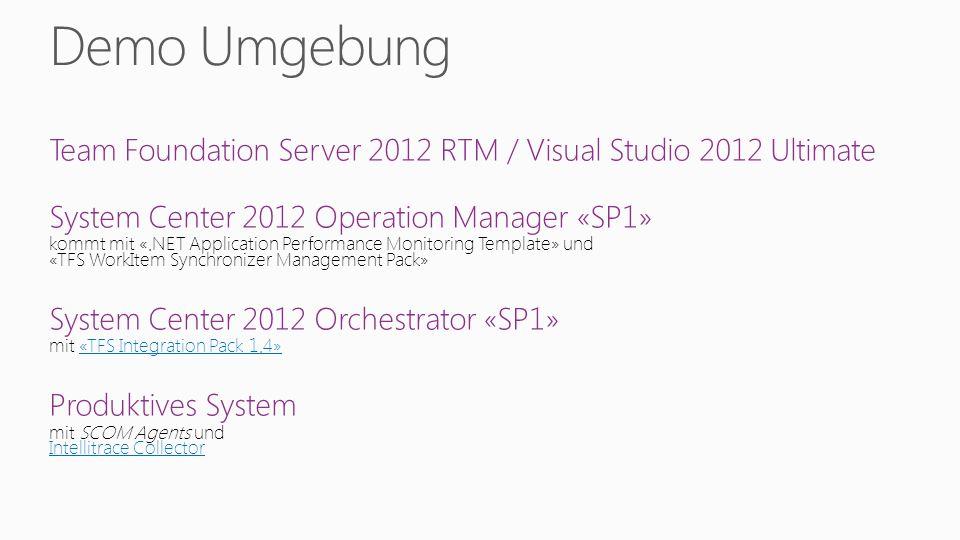 Team Foundation Server 2012 RTM / Visual Studio 2012 Ultimate System Center 2012 Operation Manager «SP1» kommt mit «.NET Application Performance Monit