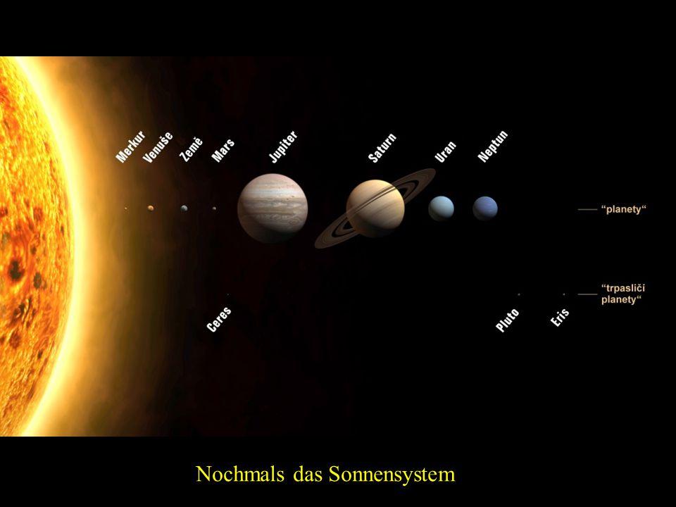 Das Sonnensystem Merkur Sonne Venus Erde und Mond Mars Jupiter Saturn Uran Neptun
