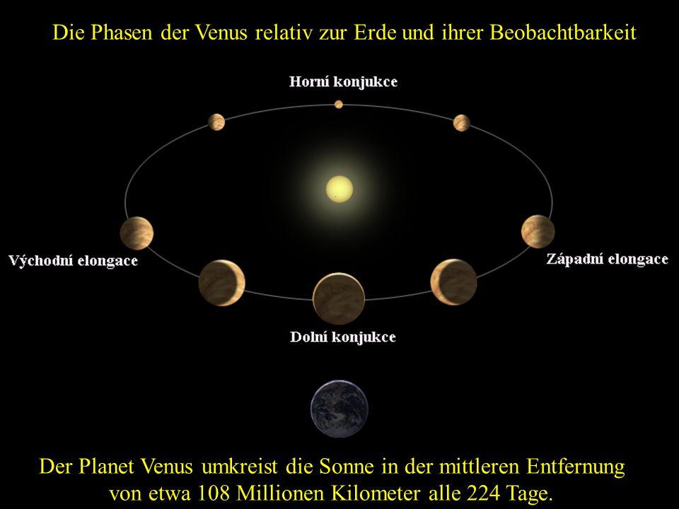 Krater auf der Venus Frage:Welche Temperatur ist auf der Oberfläche der Venus? Antwort:Die Temperatur beträgt etwa 460 ° C.