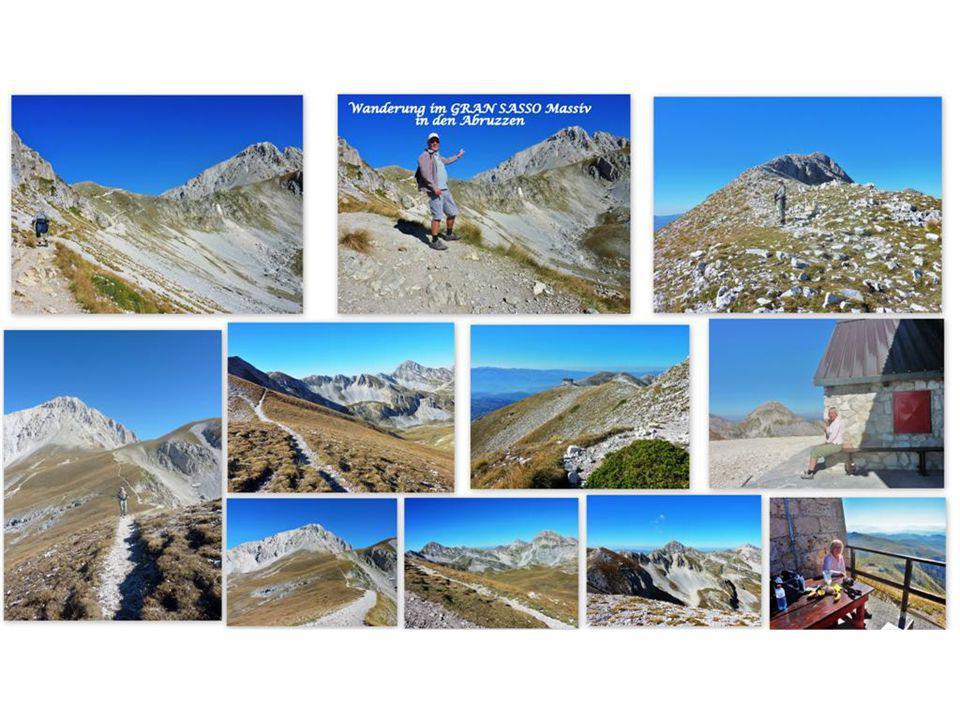 Wanderung im Gran Sasso - Massiv Der Parco Nazionale Gran Sasso d'Italia e die Monti della Laga ist eines der ältesten Naturschutzgebiete und Ausgangspunkt für unzählige Wanderungen.