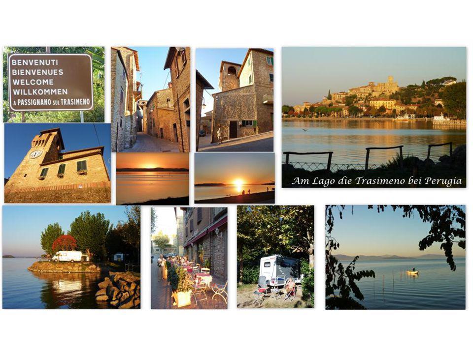 Nach dem doch recht anstrengenden Tag in der Metropole BOLOGNA, schalteten wir am nächsten Tag einen Ruhe- und Badetag am idyllischen Lago TRASIMENO in Umbrien nahe bei Perugia ein.