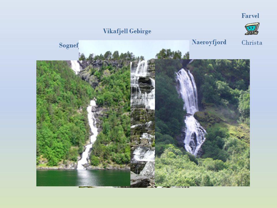 Die sieben Schwestern. Alle zeigen sich nur nach der Schneeschmelze Brautschleier Geirangerfjord Wasserfälle