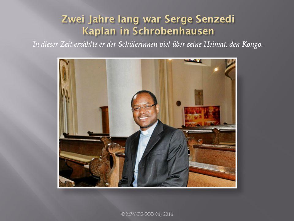 In dieser Zeit erzählte er der Schülerinnen viel über seine Heimat, den Kongo. © MW-RS-SOB 04/2014