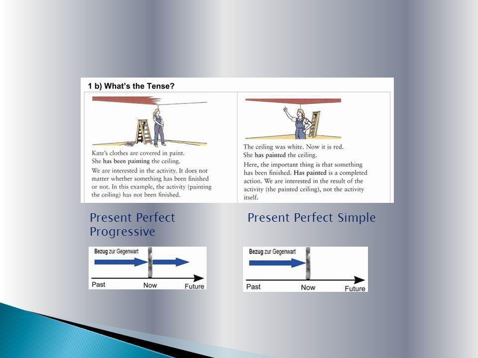 Present Perfect SimplePresent Perfect Progressive