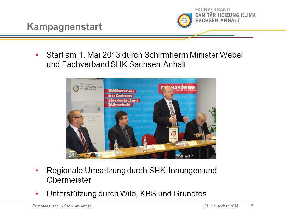 Öffentlichkeitsarbeit 6Pumpentausch in Sachsen-Anhalt24.