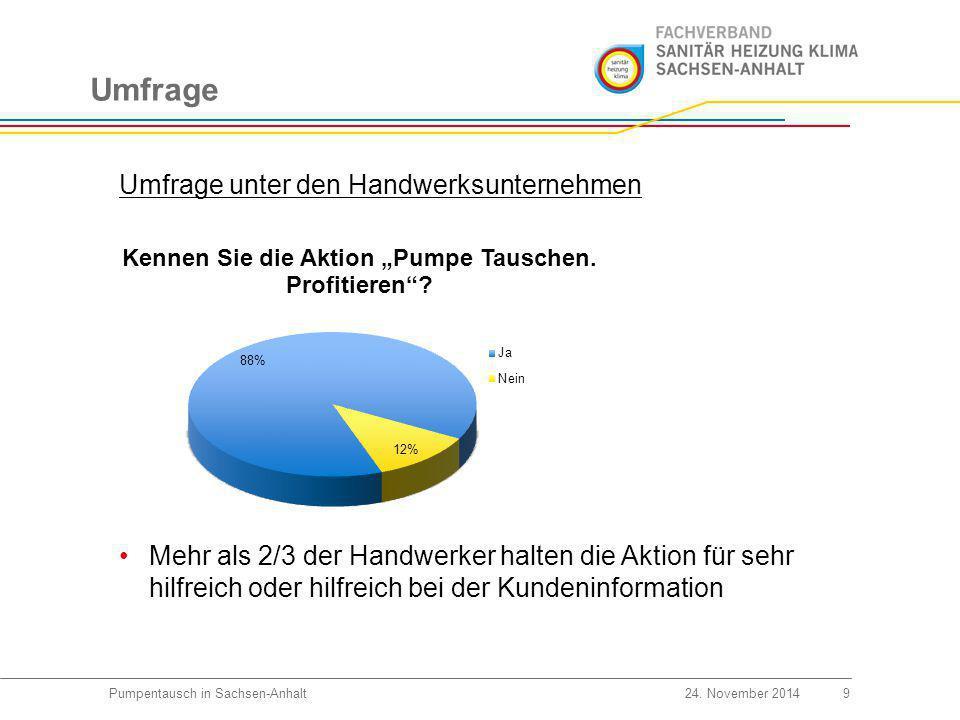 Umfrage 10Pumpentausch in Sachsen-Anhalt24.