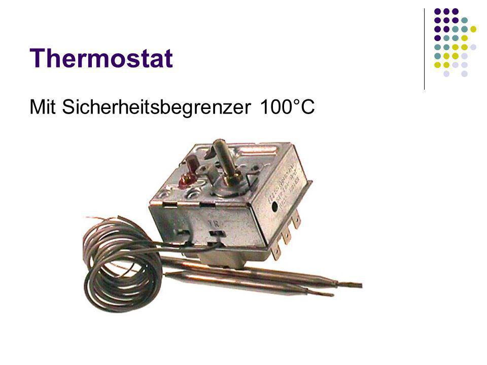 Thermostat Mit Sicherheitsbegrenzer 100°C