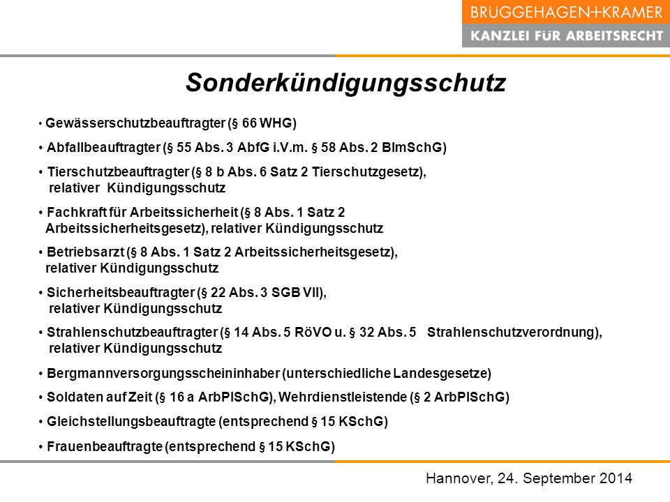 Hannover, den 07. November 2008 Hannover, 24. September 2014 Gewässerschutzbeauftragter (§ 66 WHG) Abfallbeauftragter (§ 55 Abs. 3 AbfG i.V.m. § 58 Ab