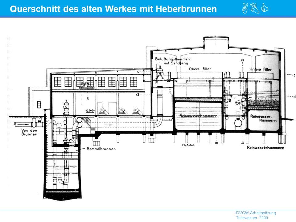 ABC DVGW Arbeitssitzung Trinkwasser 2005 Querschnitt des alten Werkes mit Heberbrunnen
