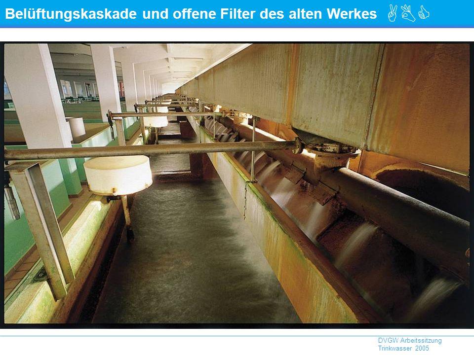 ABC DVGW Arbeitssitzung Trinkwasser 2005 Belüftungskaskade und offene Filter des alten Werkes