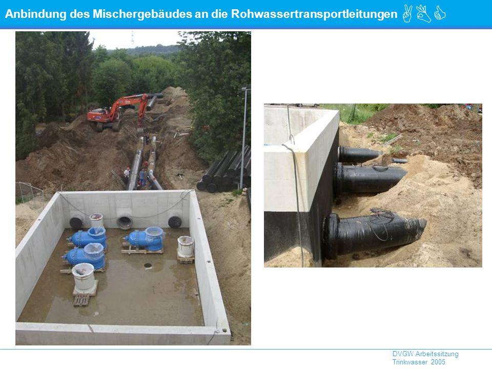 ABC DVGW Arbeitssitzung Trinkwasser 2005 Anbindung des Mischergebäudes an die Rohwassertransportleitungen