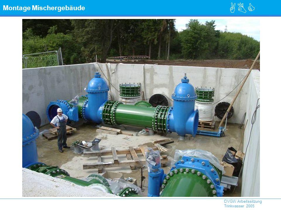 ABC DVGW Arbeitssitzung Trinkwasser 2005 Montage Mischergebäude