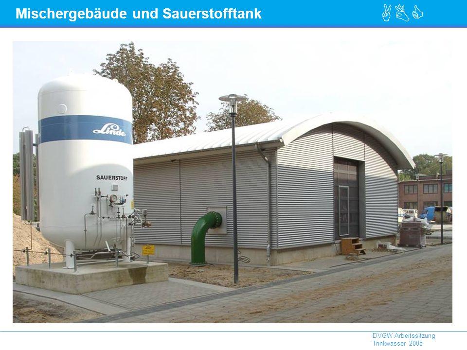 ABC DVGW Arbeitssitzung Trinkwasser 2005 Mischergebäude und Sauerstofftank