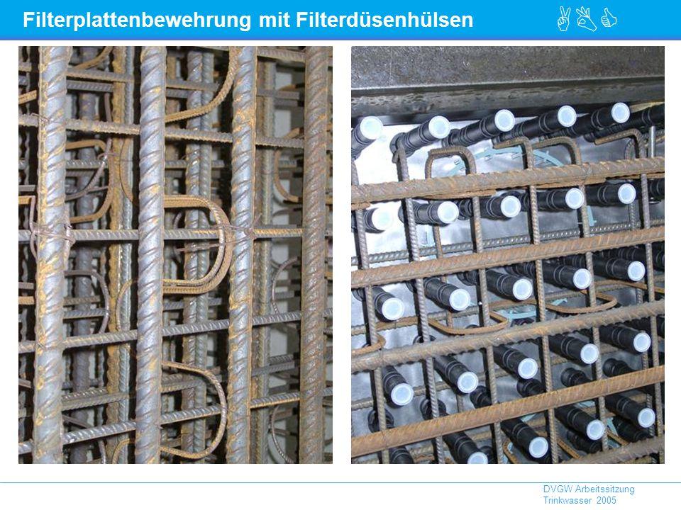 ABC DVGW Arbeitssitzung Trinkwasser 2005 Filterplattenbewehrung mit Filterdüsenhülsen