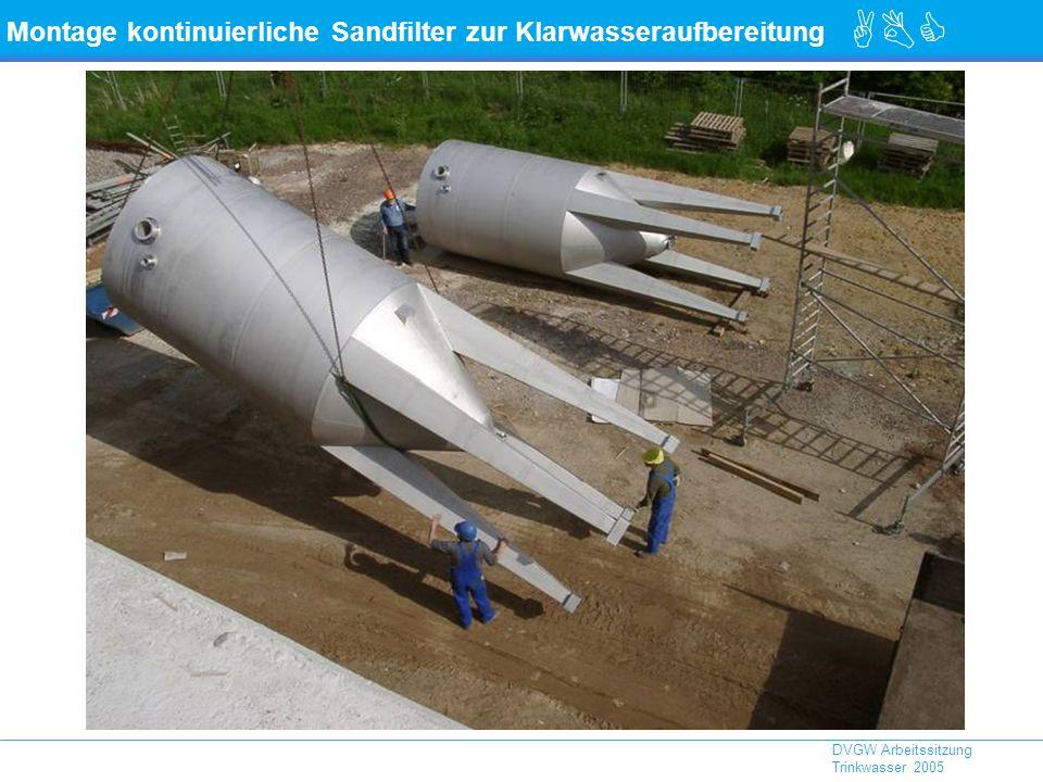 ABC DVGW Arbeitssitzung Trinkwasser 2005 Montage kontinuierliche Sandfilter zur Klarwasseraufbereitung