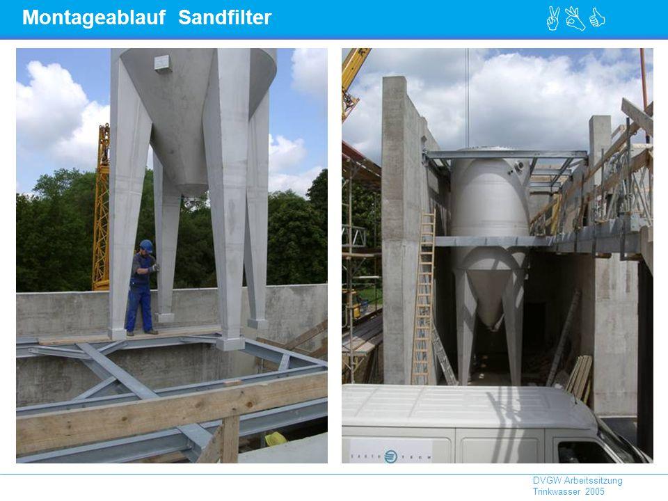 ABC DVGW Arbeitssitzung Trinkwasser 2005 Montageablauf Sandfilter