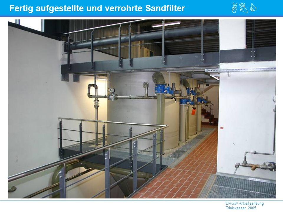 ABC DVGW Arbeitssitzung Trinkwasser 2005 Fertig aufgestellte und verrohrte Sandfilter
