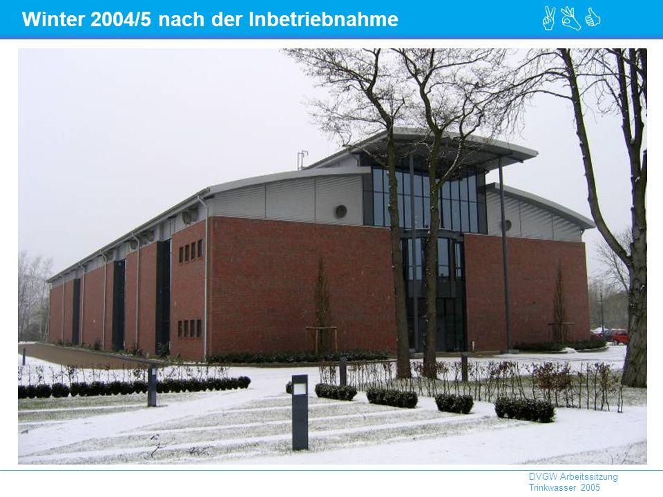 ABC DVGW Arbeitssitzung Trinkwasser 2005 Winter 2004/5 nach der Inbetriebnahme