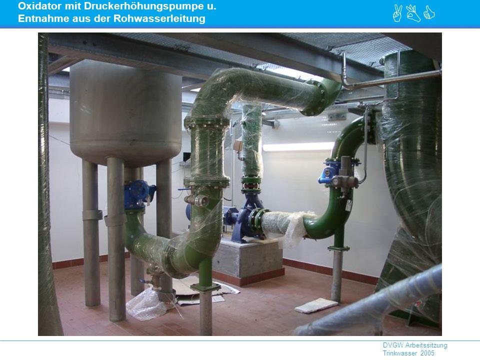 ABC DVGW Arbeitssitzung Trinkwasser 2005 Oxidator mit Druckerhöhungspumpe u.