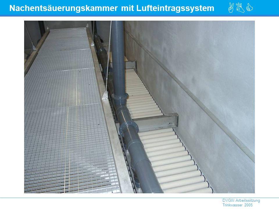 ABC DVGW Arbeitssitzung Trinkwasser 2005 Nachentsäuerungskammer mit Lufteintragssystem