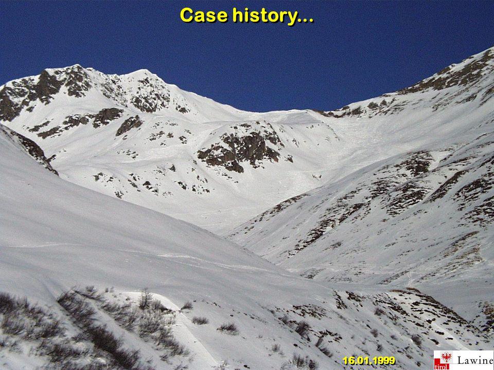 Case history... 16.01.1999