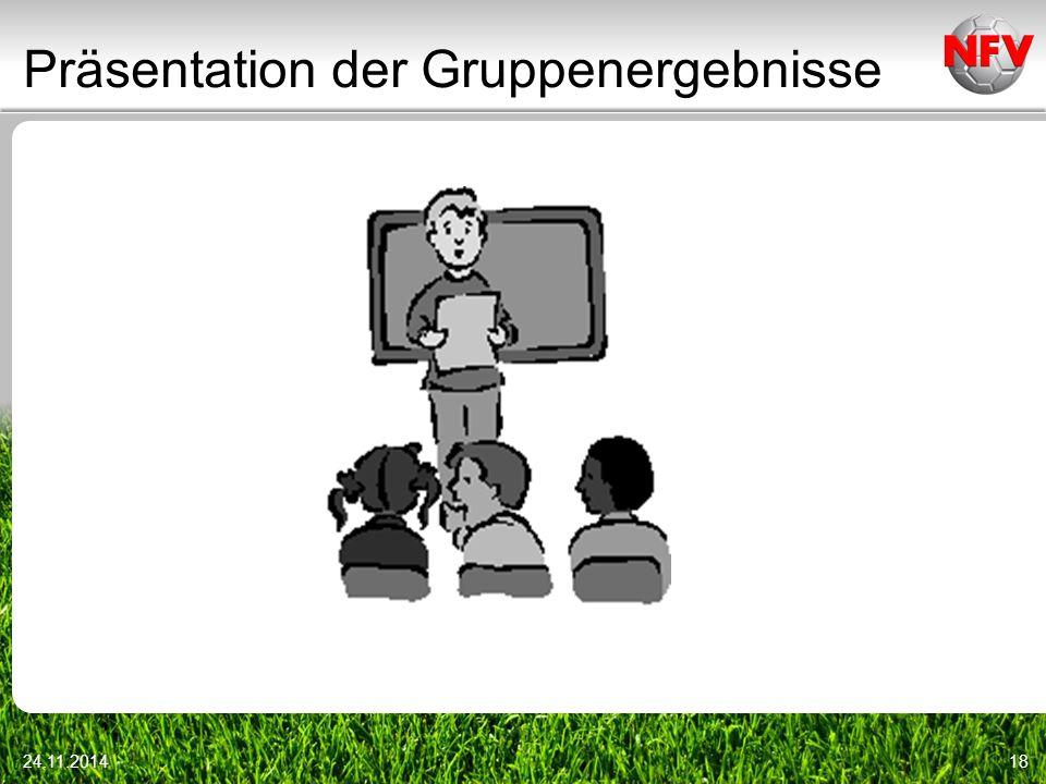 Präsentation der Gruppenergebnisse 24.11.201418