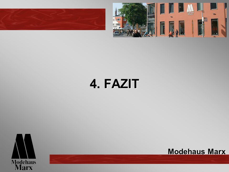 FAZIT 4. FAZIT Modehaus Marx