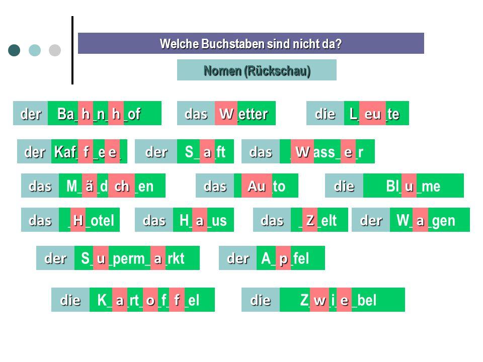 Módulo 2 – Leute, Leute Rückschau - Arbeitsblatt F.