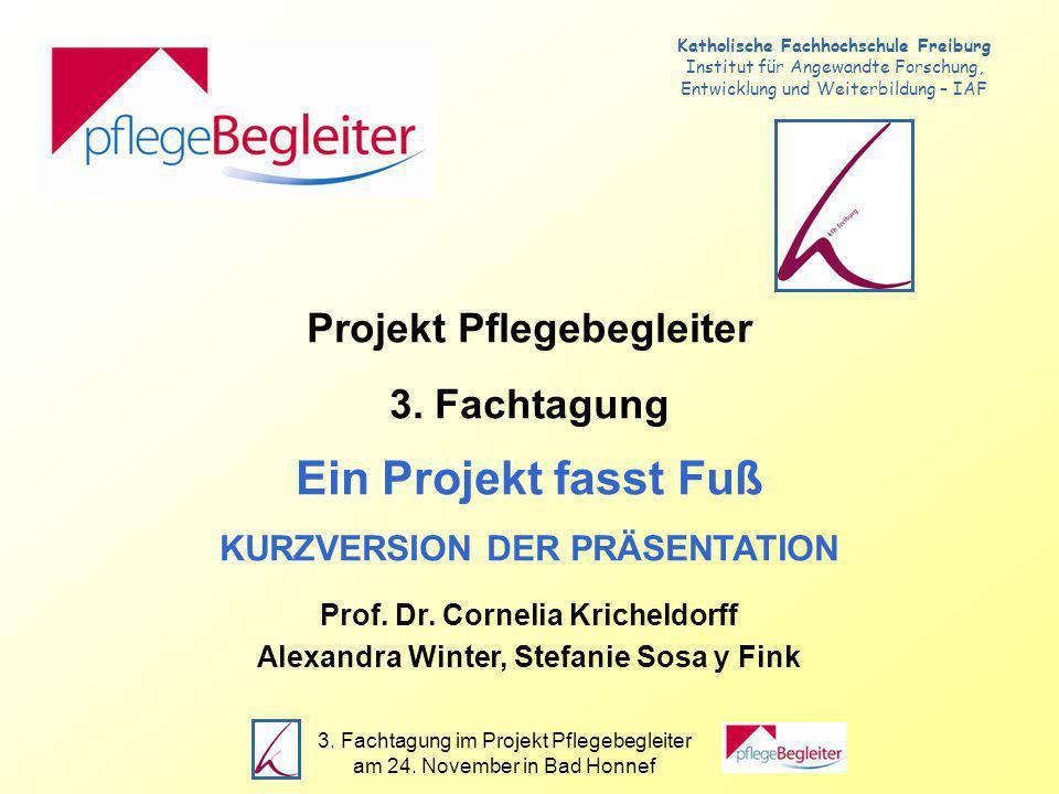 3.Fachtagung im Projekt Pflegebegleiter am 24. November in Bad Honnef Datenlage - Stand: 24.