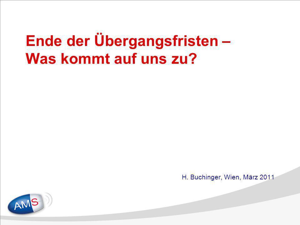 Ende der Übergangsfristen – Was kommt auf uns zu? H. Buchinger, Wien, März 2011