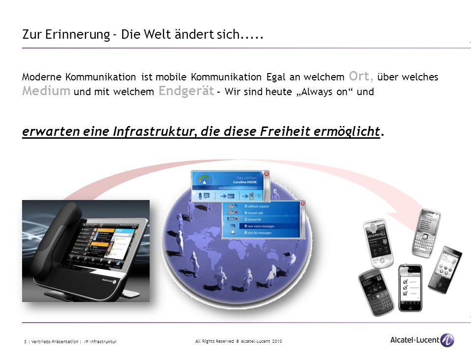 All Rights Reserved © Alcatel-Lucent 2010 4 | Vertriebs-Präsentation | IP Infrastruktur IP Infrastruktur Einfach – Flexibel - Sicher und vor allem unsichtbar