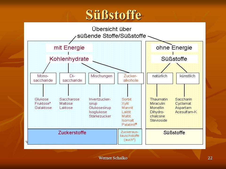 Werner Schalko22Süßstoffe