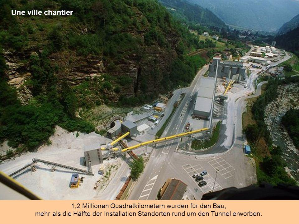 500 000 litres d'eau par jour ! 500.000 Liter Wasser wird pro Tag verwendet für die Kühlung und Beton