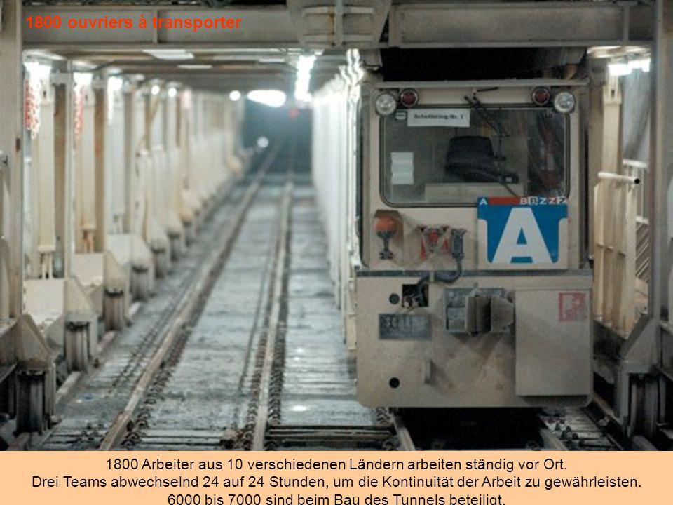 Une ville chantier 1,2 Millionen Quadratkilometern wurden für den Bau, mehr als die Hälfte der Installation Standorten rund um den Tunnel erworben.