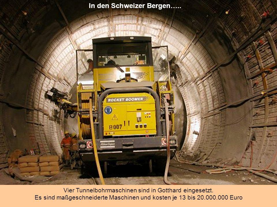 Das Gotthardmassiv befindet sich in den Zentralalpen in der südlichen Schweiz. Durch das Gebirgsmassiv führen bislang zwei Tunnel: der bereits 1882 er