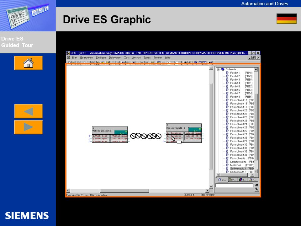 Automation and Drives Drive ES Guided Tour Intern Edition 01/02 Drive ES Graphic