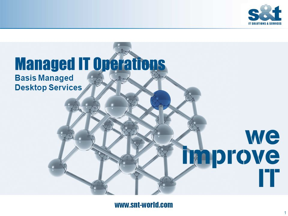 Managed IT Operations Basis Managed Desktop Services 1