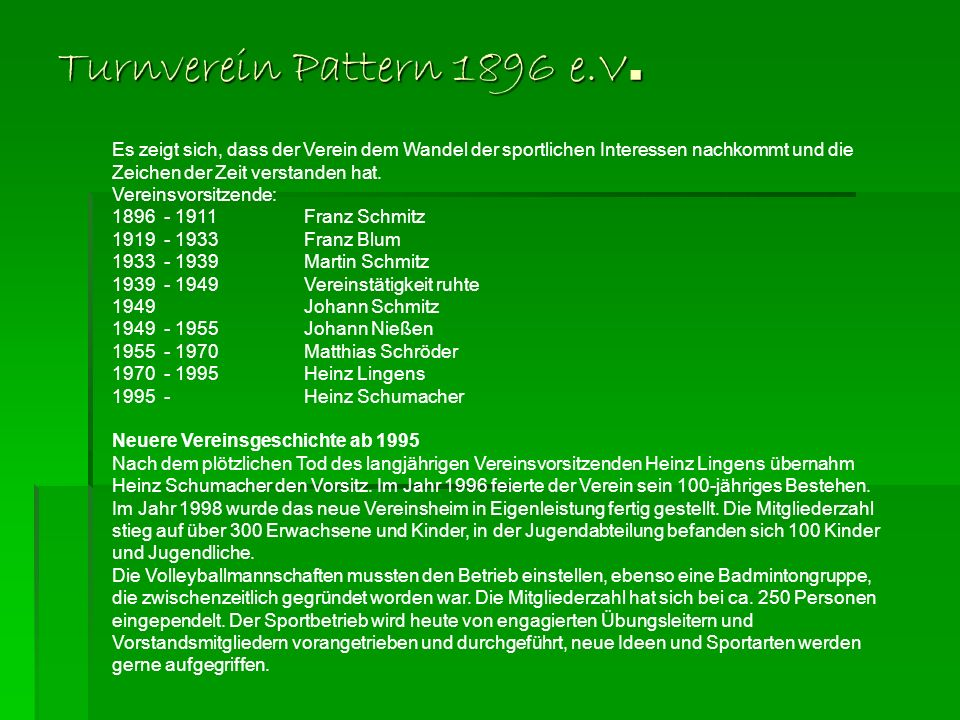 Turnverein Pattern 1896 e.V.