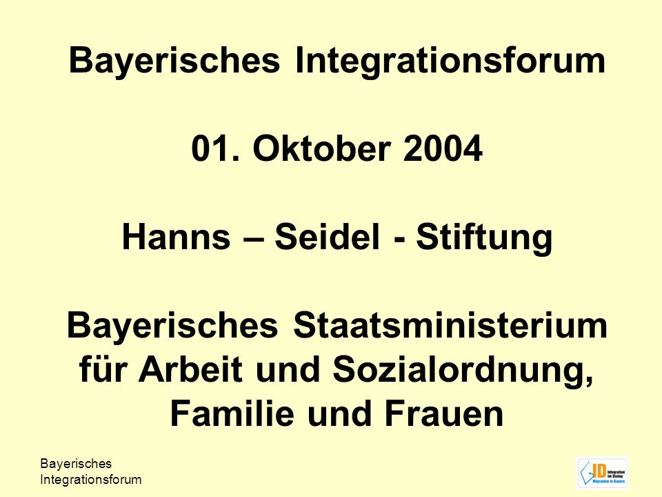 Bayerisches Integrationsforum 01.