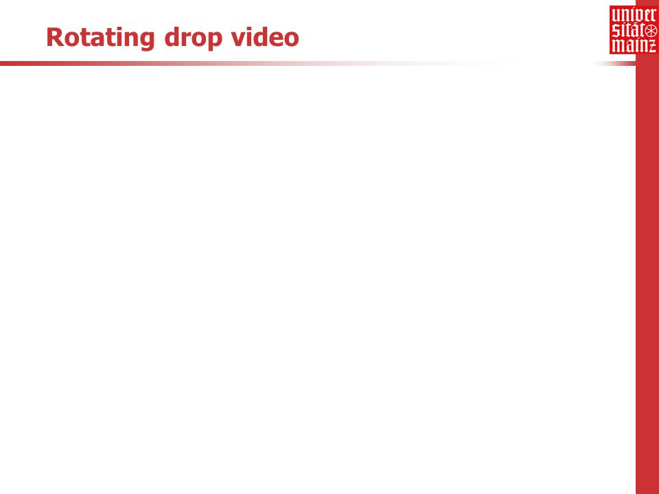 Rotating drop video