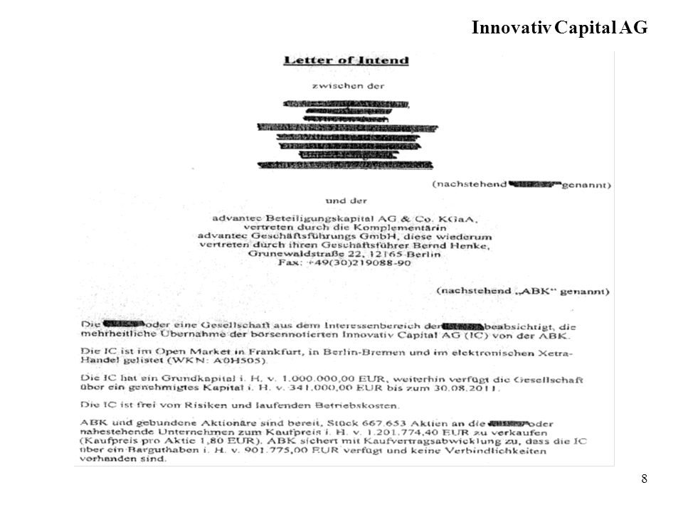Innovativ Capital AG 8