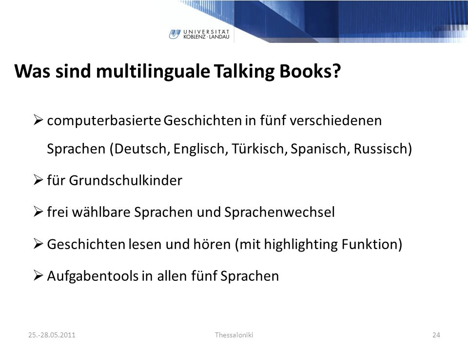Was sind multilinguale Talking Books.