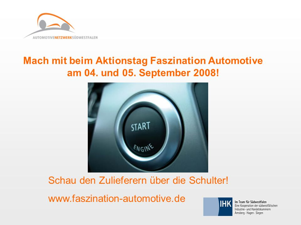 Mach mit beim Aktionstag Faszination Automotive am 04.