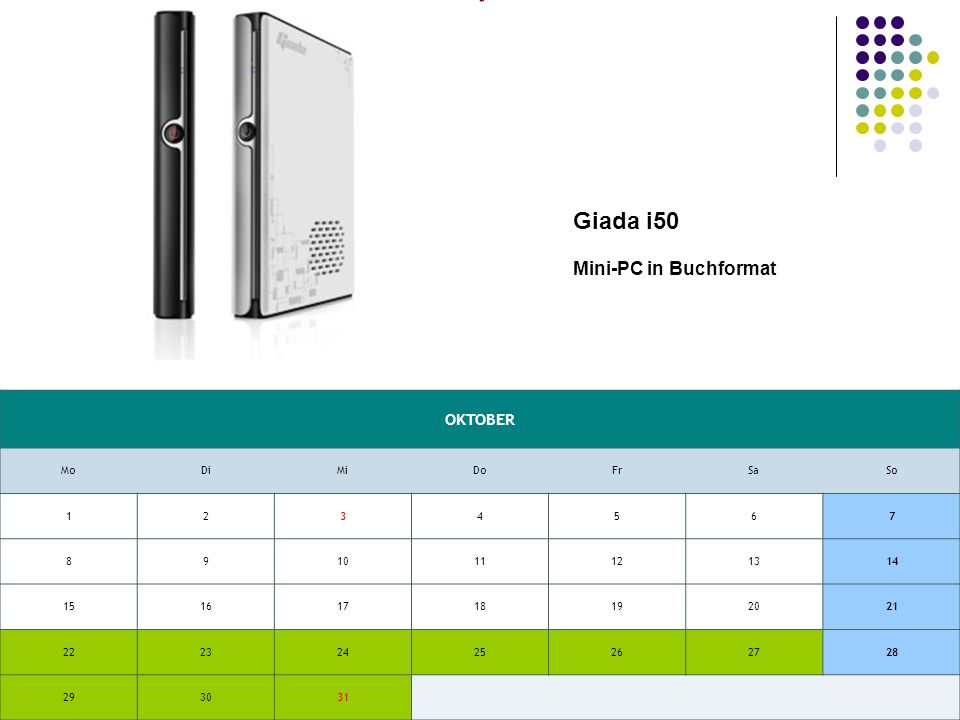 OKTOBER MoDiMiDoFrSaSo Giada i50 Mini-PC in Buchformat